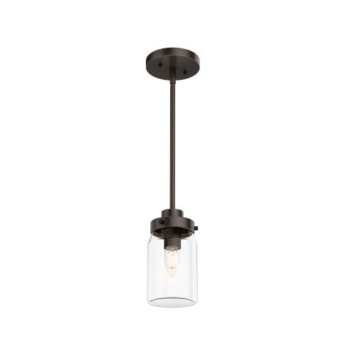 Devon Park Natural Iron Nine-Inch One-Light Mini Pendant