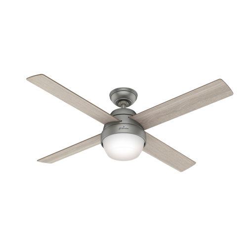 Marietta Matte Silver 52-Inch LED Ceiling Fan