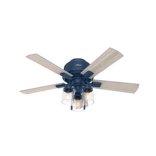 Hartland Indigo Blue 44-Inch Three-Light LED Ceiling Fan