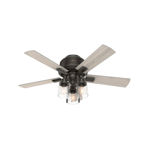 Hartland Noble Bronze 44-Inch Three-Light LED Ceiling Fan
