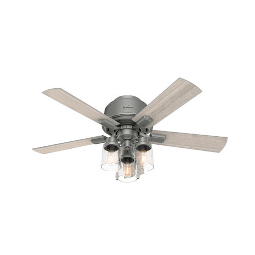 Hartland Matte Silver 44-Inch Three-Light LED Ceiling Fan