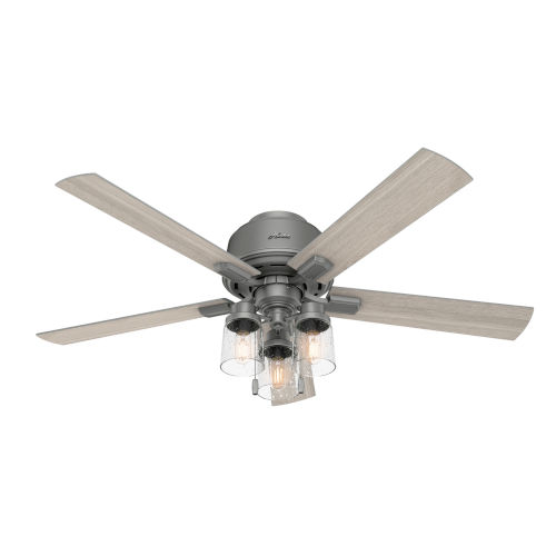Hartland Matte Silver 52-Inch Three-Light LED Ceiling Fan