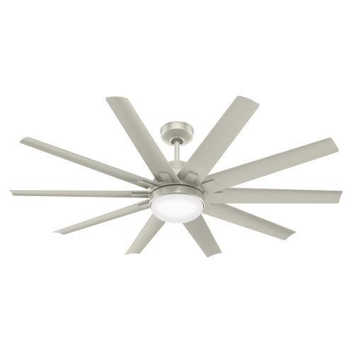 Overton Matte Nickel 60-Inch Two-Light DC LED Ceiling Fan