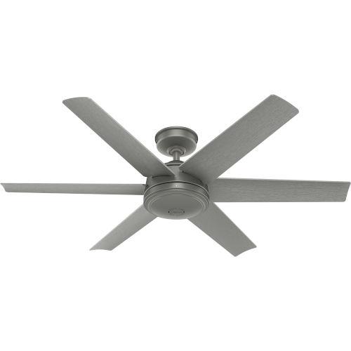 Jetty Matte Silver 52-Inch Outdoor Ceiling Fan