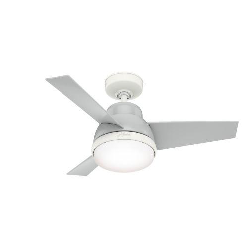 Valda Dove Grey 36-Inch Two-Light LED Ceiling Fan