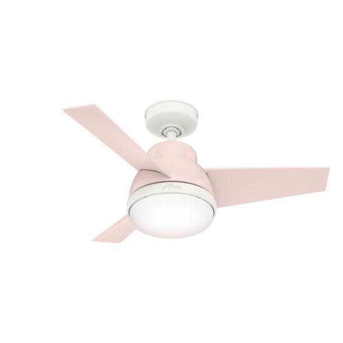 Valda Blush Pink 36-Inch Two-Light LED Ceiling Fan