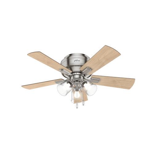 Crestfield Low Profile Brushed Nickel 42-Inch LED Ceiling Fan