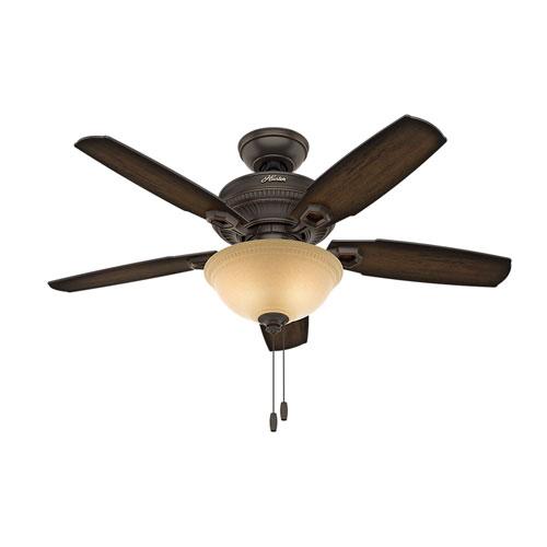 Hunter Fans Ambrose Onyx Bengal 44-Inch Two-Light LED Adjustable Ceiling Fan