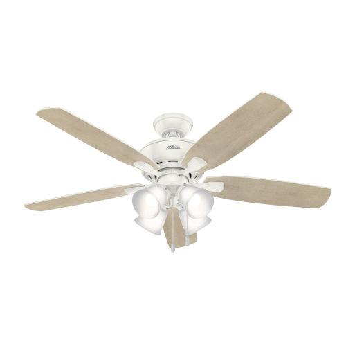 Amberlin Fresh White Four-Light LED 52-Inch Ceiling Fan
