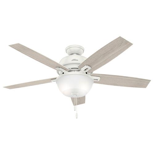 Hunter Fans Donegan Fresh White 52-Inch Two-Light LED Adjustable Ceiling Fan