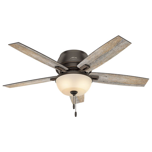 Donegan Onyx Bengal 52 Inch Two Light Led Ceiling Fan