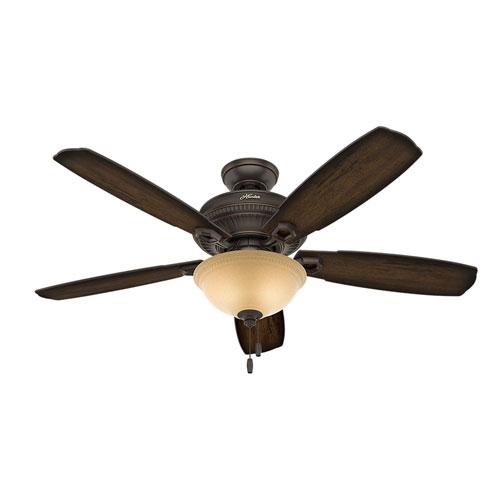 Hunter Fans Ambrose Onyx Bengal 52-Inch Two-Light LED Adjustable Ceiling Fan
