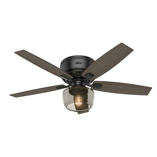 Bennett Matte Black 52-Inch One-Light LED Ceiling Fan