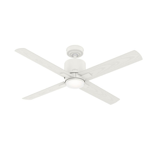 Visalia Matte White 52-Inch Outdoor LED Ceiling Fan