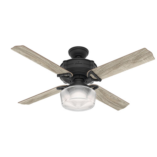 Brunswick Natural Iron 60-Inch One-Light LED Adjustable Ceiling Fan