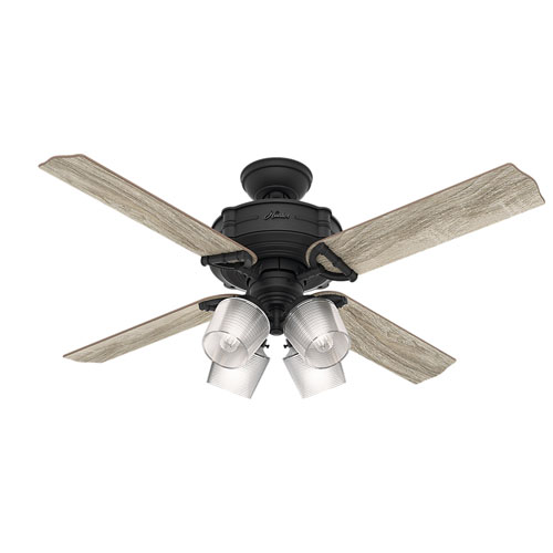 Brunswick Natural Iron 60-Inch Four-Light LED Adjustable Ceiling Fan