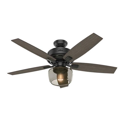 Bennett Matte Black 52-Inch One-Light LED Adjustable Ceiling Fan