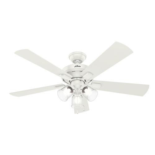 Crestfield Fresh White 52-Inch Three-Light LED Adjustable Ceiling Fan
