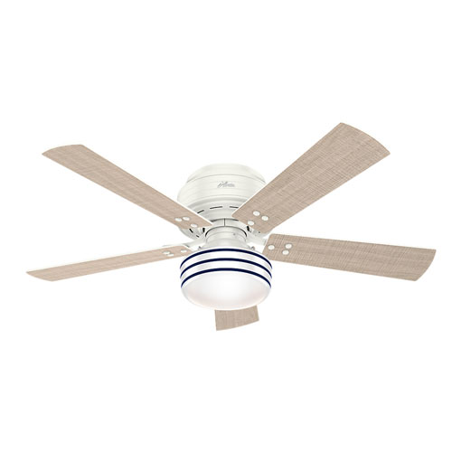 Hunter Fans Cedar Key Fresh White 52-Inch One-Light LED Adjustable Ceiling Fan