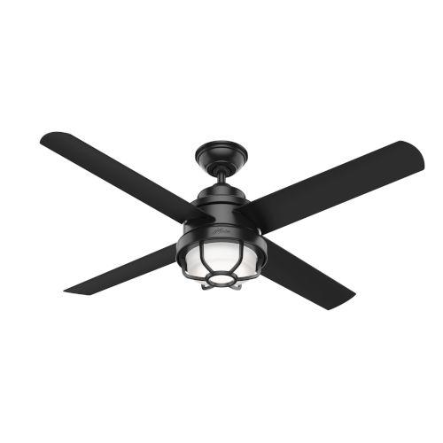 Searow Matte Black 54-Inch Outdoor Two-Light LED Ceiling Fan