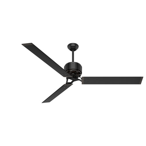 Hunter 72 Industrial Matte White Damp Rated Ceiling Fan: Adjustable Ceiling Fan
