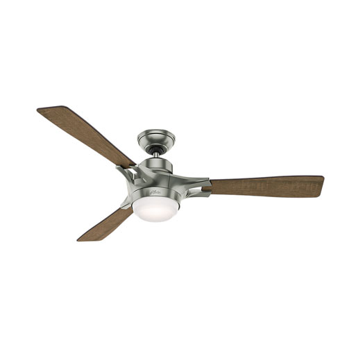 Signal Satin Nickel 54-Inch One-Light LED Adjustable Ceiling Fan