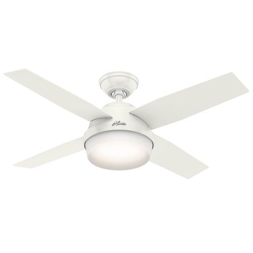 Dempsey Fresh White 44-Inch Two-Light LED Adjustable Ceiling Fan