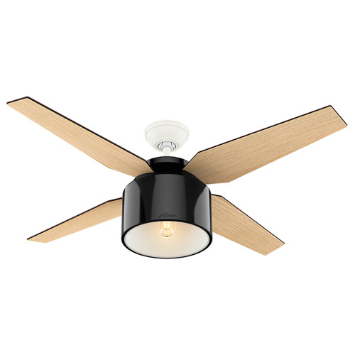 Cranbrook Gloss Black 52-Inch One-Light LED Adjustable Ceiling Fan