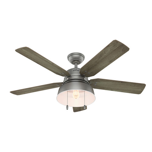 Mill Valley Matte Silver 52-Inch One-Light LED Adjustable Ceiling Fan