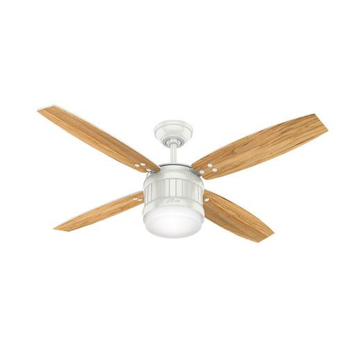 Seahaven Fresh White 52-Inch One-Light LED Adjustable Ceiling Fan
