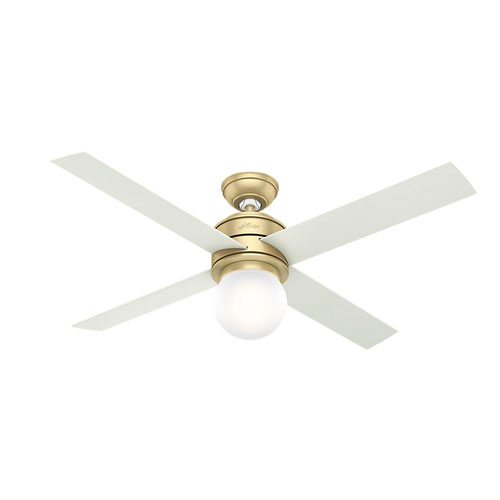Hepburn Modern Brass 52-Inch One-Light LED Adjustable Ceiling Fan