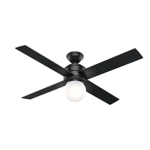 Hepburn Matte Black 52-Inch One-Light LED Adjustable Ceiling Fan