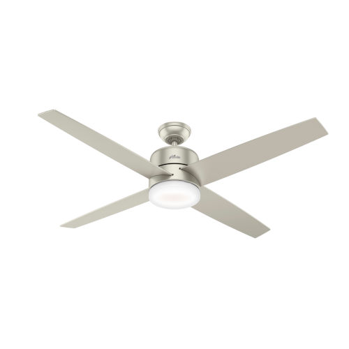 Advocate Matte Nickel 60-Inch DC Motor Smart LED Ceiling Fan