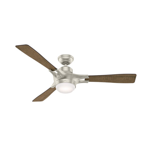 Hunter Fans Signal Matte Nickel 54-Inch One-Light LED Adjustable Ceiling Fan