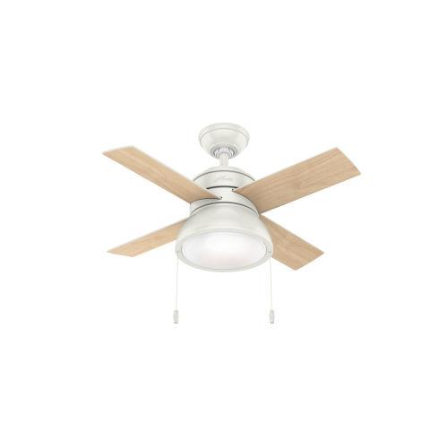 Loki Fresh White 36-Inch LED Ceiling Fan