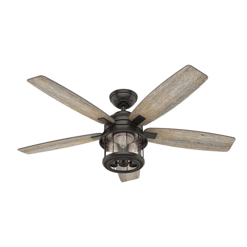 Coral Bay Noble Bronze 52-Inch Three-Light LED Adjustable Ceiling Fan
