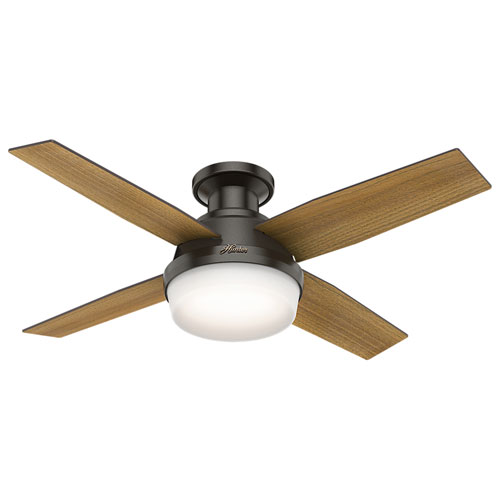 Dempsey Noble Bronze 44-Inch Two-Light LED Ceiling Fan