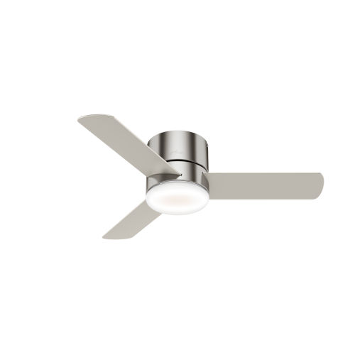 Minimus Low Profile Brushed Nickel 44-Inch LED Ceiling Fan