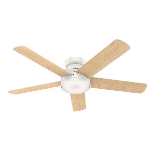 Romulus Low Profile Fresh White 54-Inch Smart LED Ceiling Fan