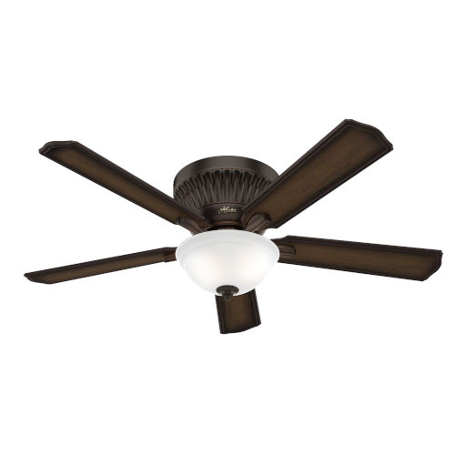 Chauncey Low Profile Onyx Bengal 54-Inch DC Motor LED Ceiling Fan