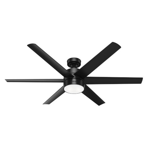 Solaria Matte Black 60-Inch LED Ceiling Fan