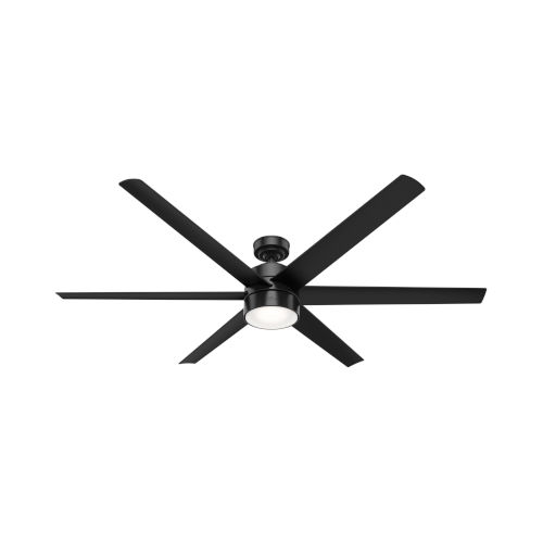 Solaria Matte Black LED 72-Inch Outdoor Ceiling Fan