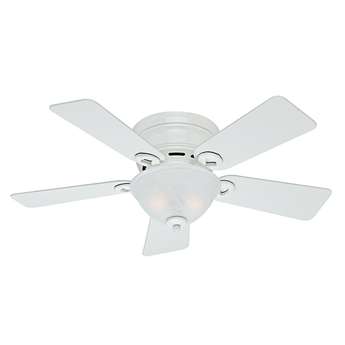 42 inch ceiling fan with light rustic hunter fans conroy snow white two light 42inch low profile ceiling fan 42 inch