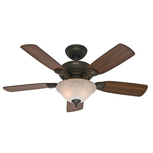 Hunter Fans Caraway New Bronze Two Light 44-Inch Ceiling Fan