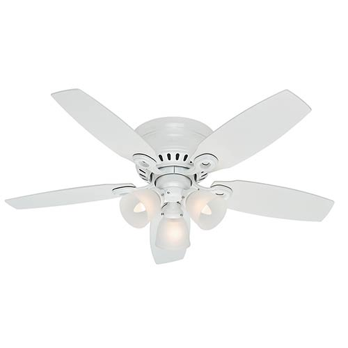 Hunter Fans Hatherton Snow White Three Light 46-Inch Hugger Ceiling Fan
