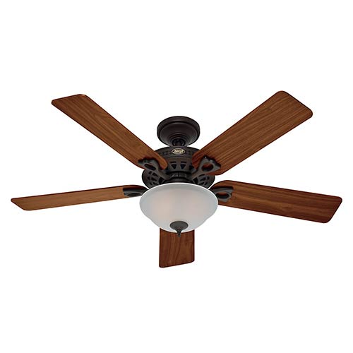 The Astoria New Bronze Two Light 52-Inch Ceiling Fan