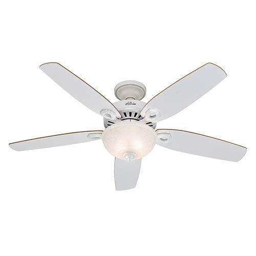 Hunter Fans Builder Deluxe White Two Light 52-Inch Ceiling Fan
