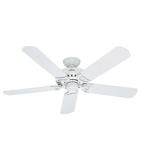 Hunter Fans Bridgeport White 52 Inch Energy Star Ceiling Fan