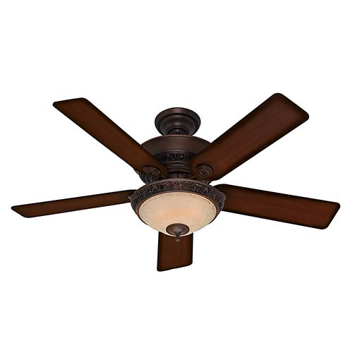 Italian Countryside Cocoa Three Light 52-Inch Ceiling Fan