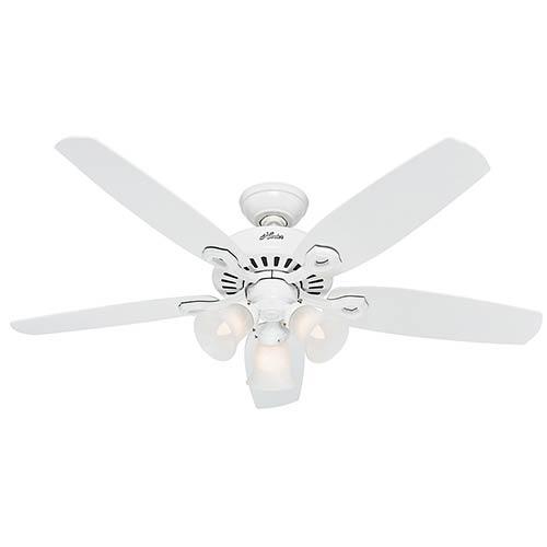 Builder Plus Snow White Three Light 52-Inch Ceiling Fan